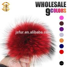 Новогодний продукт Стильная шляпа Аксессуары Меховые шарики Подлинная большой размер 19см Енот Fur Pompom