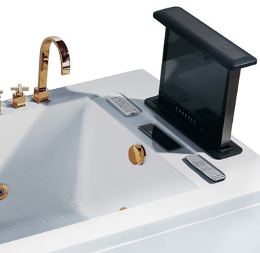 White Matt TV Stand Bathtub with Apron
