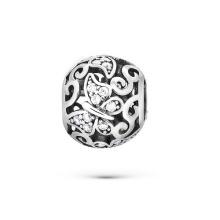 Jóias CZ de pérolas de prata esterlina 925 para pulseiras europeias
