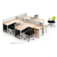 Vertical 7 Shape Easy Assembly Demountable Office Cluster of 4 Workstations