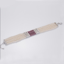 Best Price on for Womens Cuff Bracelet Buy Multi Strand Fake Pearl Bracelet supply to North Korea Factory