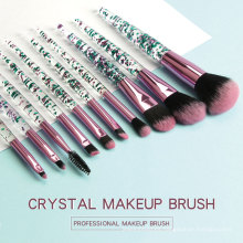 Kit de cepillo de maquillaje Crystal Rhinestone Kit profesional