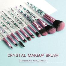 Kit profissional de escova de maquiagem de strass de cristal