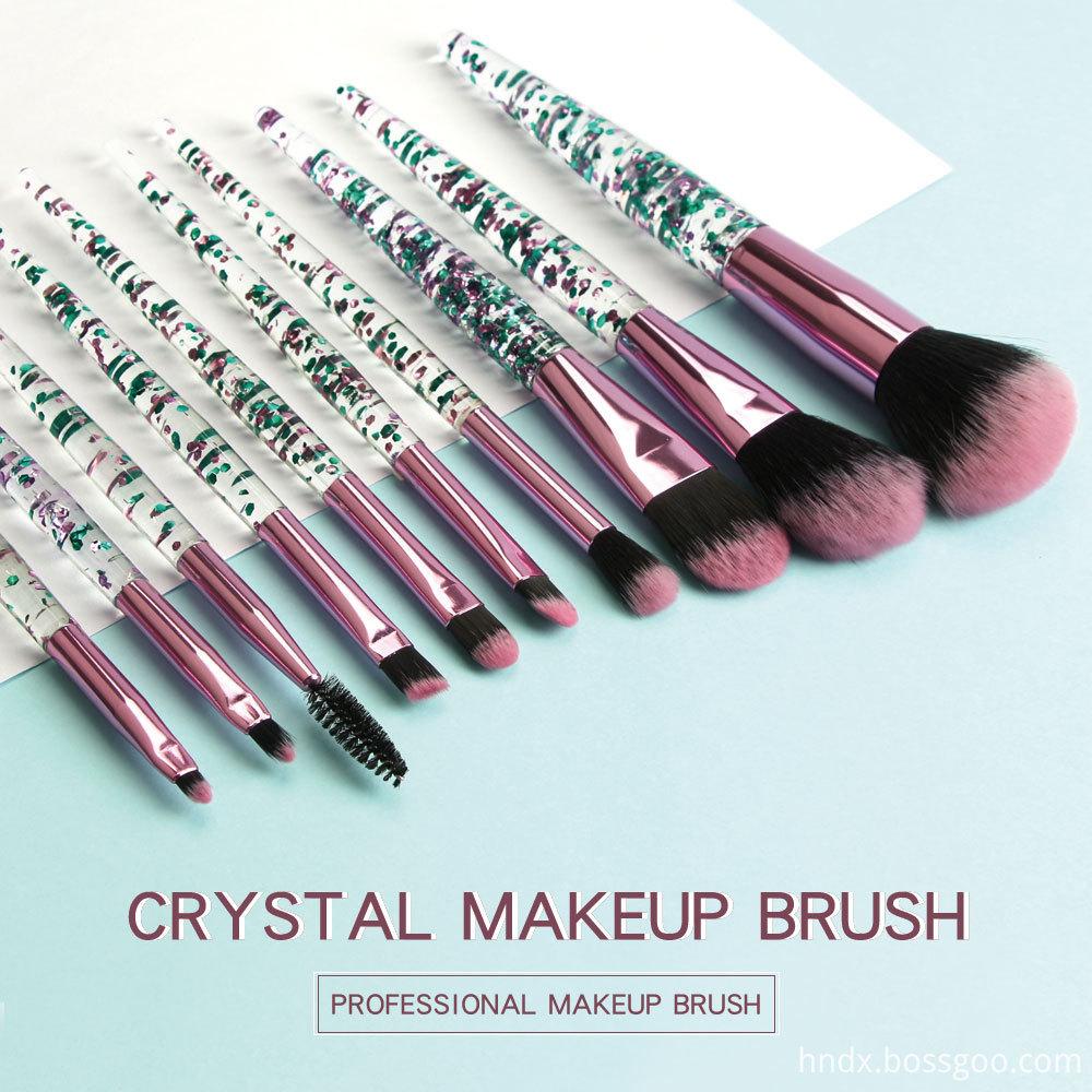 Crystal Rhinestone Makeup Brushes Set 1