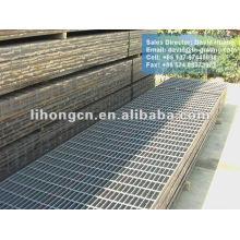 Grade de piso de aço preto