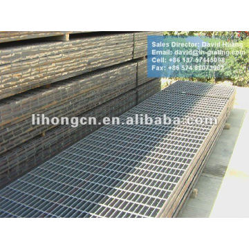 black steel floor grating