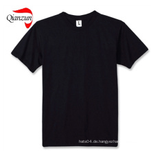 Baumwolle Schwarz Blank T-Shirts 100% Baumwolle Stoff
