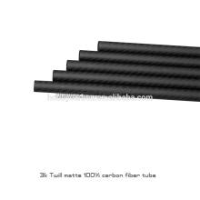 Tube chaud de sergé de fibre de carbone de la vente chaude 3K 100%