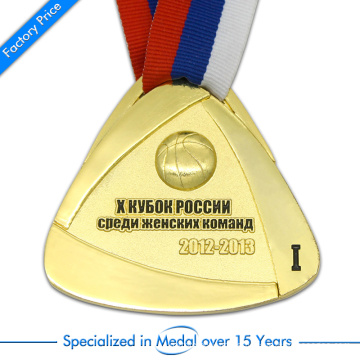 China Customized High Quality Pressure Stamping 3D Basketball Medal in Zinc Alloy
