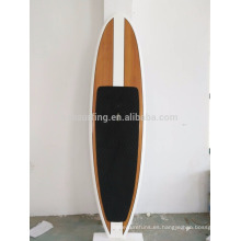 2016 caliente !!!! El tablero de paleta de SUP de la fibra de vidrio de la resina de epoxy de la chapa de bambú / de madera se levanta el tablero de paleta