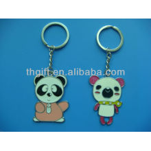 Soft enamel with custom cartoon design metal keychain/keyring
