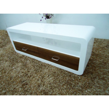 Contemporary white high gloss TV stand