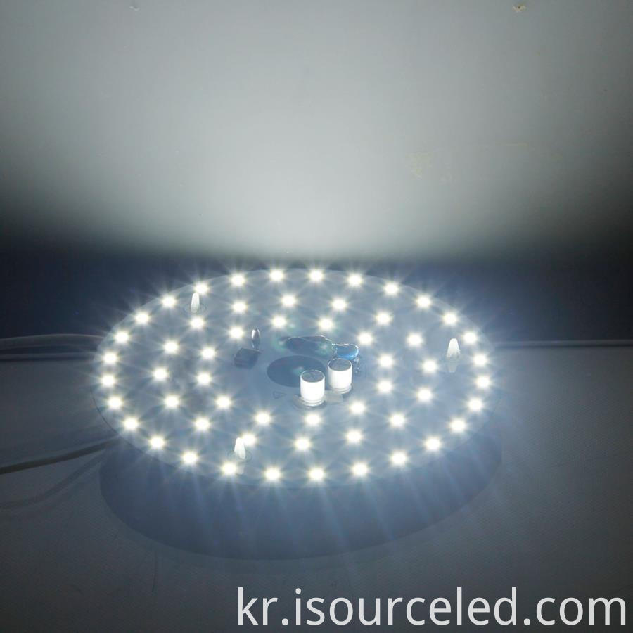 led ac module round 15w bottom view product power-on luminous diagram