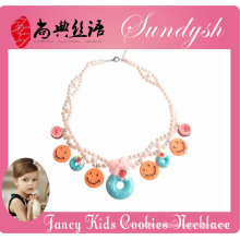 Beautiful Handmade kids Necklace Handmade Cup Cake charms Necklace for Kids