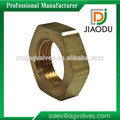 made in china metal customized npt forged 1/4 inch CuZn35Pb1 brass lock nut