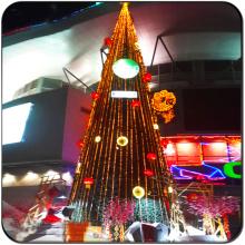 Arbre de Noël d'éclairage extérieur commercial géant