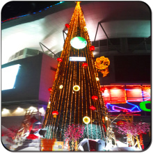 Árbol de navidad de iluminación exterior comercial gigante