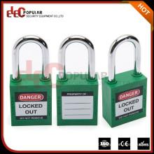 Produtos grossistas eletropólicos Melhor isolamento Cadeado de segurança para pequenos cilindros de cobre