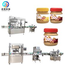 JB-NJ4 Automatic glass jar filling equipment 4 oz Honey Jam sauce peanut butter bottle filling capping labeling machine