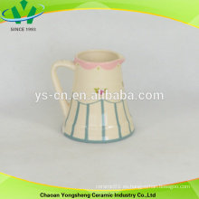 Olla de la leche de la flor de la cerámica del estilo chino