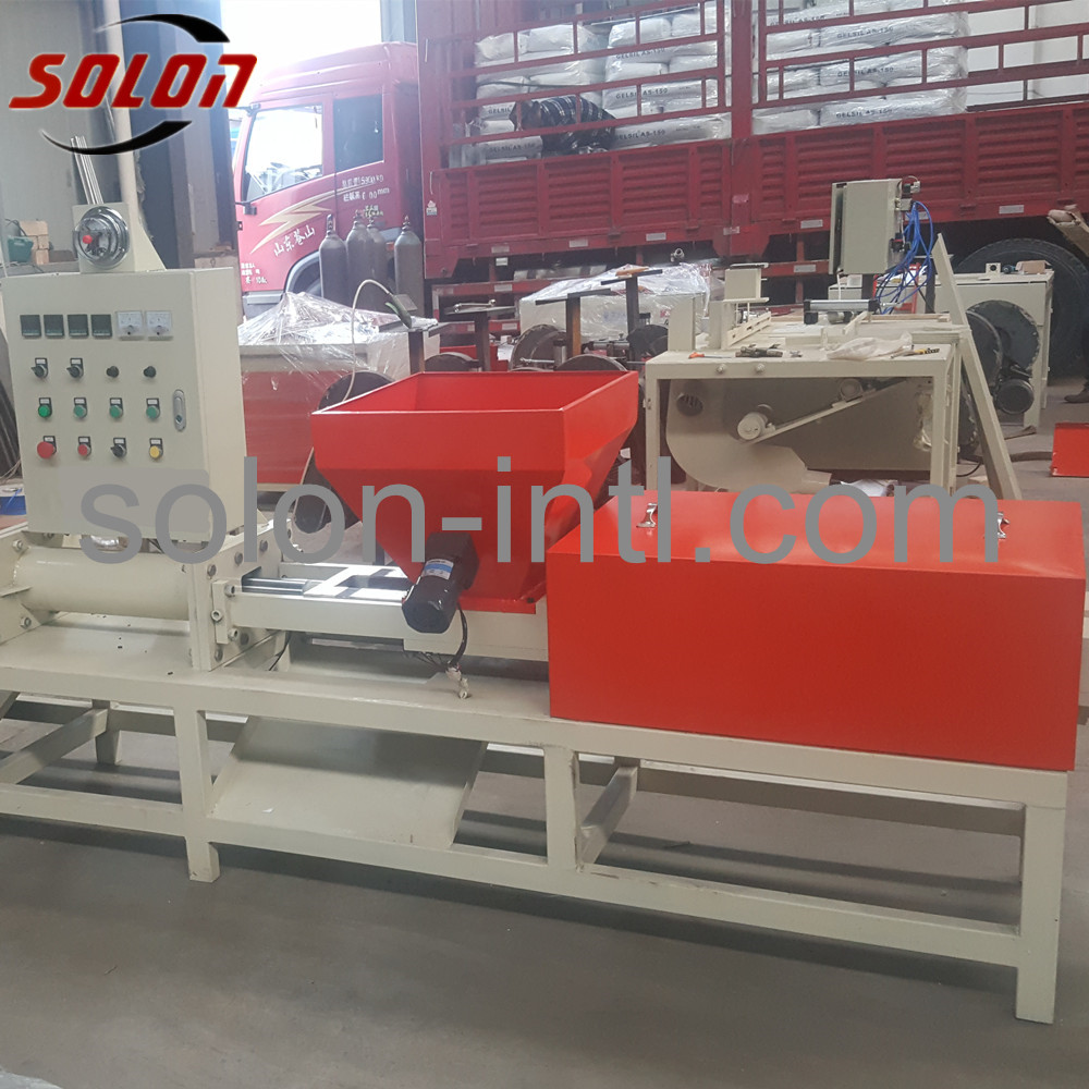 wood pallet block machine with automatic cutter