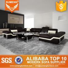 2017 современной офисной мебели U-образный кожаный диван конструкции с рамой из нержавеющей стали