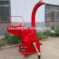 simple PTO shaft wood chipper hydraulic feeding