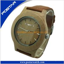 2016 Natural Atacado Madeira Watch Wrist Wood Watch para Homens
