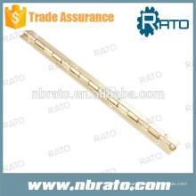 RPH-108 estampación bisagra de piano de latón de 15 mm de ancho