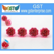1'' Plastic Red Flower Rings Assorted