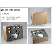 porcelain bone china coffee tea set 2013 new year products birthday christmas decoration PE gift box