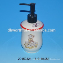 Bathroom set ceramic lotion pump with monkey figure