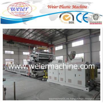 Línea de producción plástica de la máquina del extrusor de la hoja de los mármoles de imitación del PVC