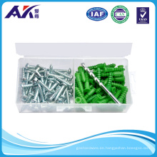 Ancla plástica 100PCS con el kit de tornillo