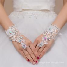 El cordón moldeado fingerless atractivo aplica el guante del cordón de la boda de la señora de la alta calidad