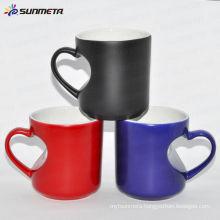Sublimation Color Changing Mug -Heart Handle Mug