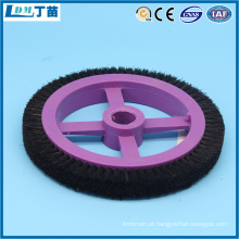 escova redonda de arame metálico antiestático para remoção de poeira