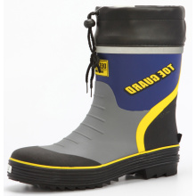 Men's Safety  Rubber Boots With Pvc Cover And Drawstring