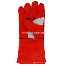 14 Zoll Kuhspaltleder Schweißhandschuhe mit verstärkter Handfläche