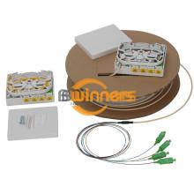 4-портовая распределительная коробка для волоконно-оптических кабелей
