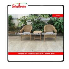 nuevo estilo al aire libre jardín comedor muebles de ratán