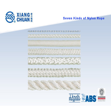 Seven Kinds of Nylon Rope with ISO 9001 Approved