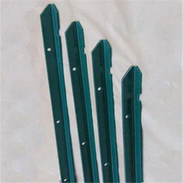 Profesión Green Painted Metal T Fence Post