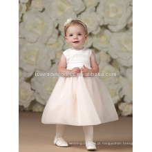 HF2037 rosa tulle 0-3 bebê vestido moderno