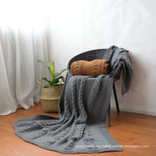 Luxury Softextile 100% Acryl Minky DOT Fleece Strickdecken Großhandel