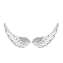 Pendiente de plata sólido de las alas del ángulo del diseño 925