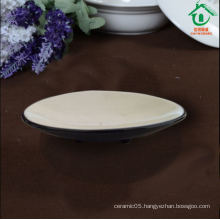 Black ceramic plates porcelain dishes for restaurant