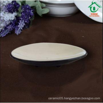 Black ceramic plates porcelain dishes for restaurant