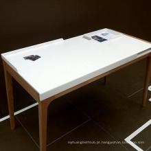 Cortar ao tamanho tampo da mesa de superfície sólido branco puro / tampo de cozinha acrílico