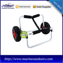trailer trolley, easy to fold canoe kayak cart, dolly trolley PU wheel